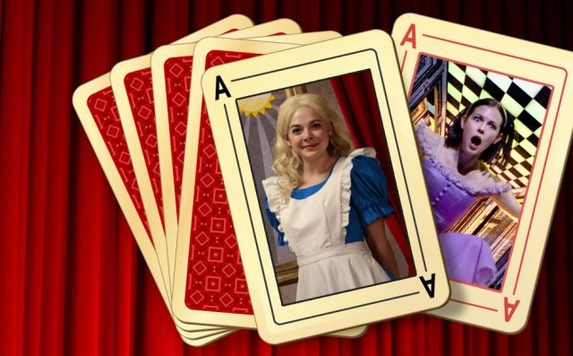 Left: <em>Alice Through the Looking-Glass</em>, Natasha Greenblatt as Alice. Right: Jillian Vanstone in <em>Alice's Adventures in Wonderland</em>. | Photos: David Krovblit, Cylla von Tiedemann