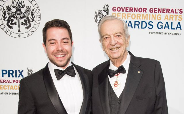 Joseph Rouleau and Jean-Philippe Fortier-Lazure at the Governor General's Performing Arts Awards Gala at the NAC in May 2014.