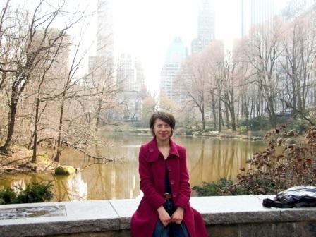 Anna Pidgorna dans Central Park,  New York, en mars 2012.