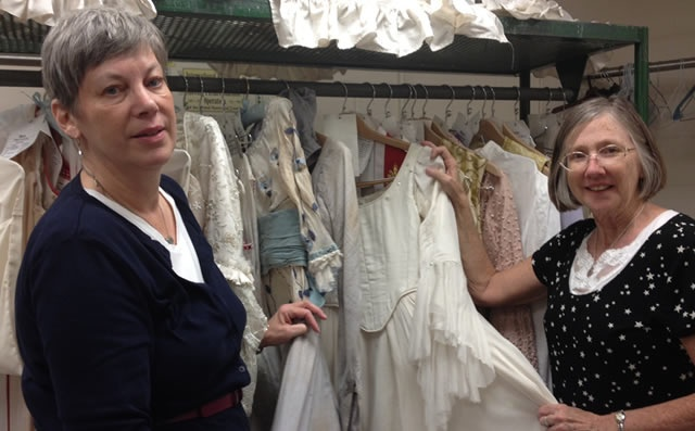 The dedicated staff at Houston Ballet's wardrobe dept. Thanks Barbara, Marie Claire, Amanda and Esther!