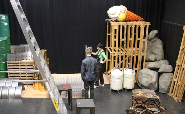 The set under construction | photo: Marnie Richardson