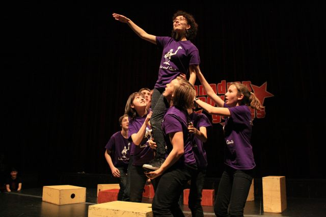 Templeton Secondary School's improv team from Vancouver, B.C. performs during the national finals at the NAC in 2013. | Brittany Brooks