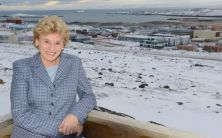 Julia Foster in Iqaluit during the NAC Orchestra's 2012 Northern Tour. | Fred Catroll