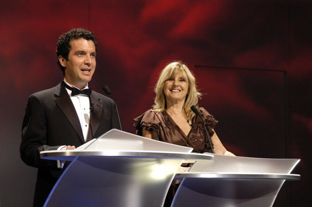 Rick Mercer, popular English-Canadian funnyman, and Dominique Michel, legend of Quebec comedy, shared the stage during the Governor General's Performing Arts Awards Gala at the NAC a few years ago.