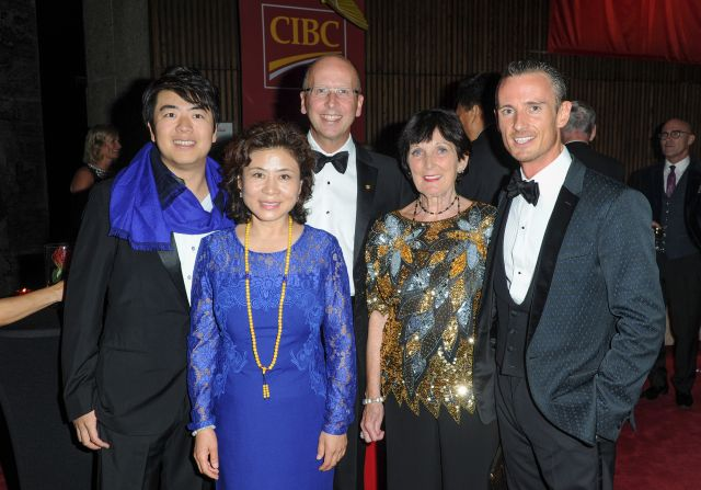 Lang Lang, Alexander Shelley, and their mothers with Victor Dodig (President & CEO of CIBC) | Ernesto di Stefano