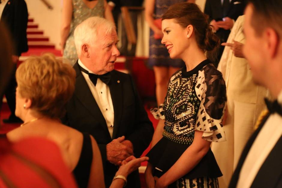 Le très honorable David Johnston et Mary Dailey Desmarais au Gala 2015.