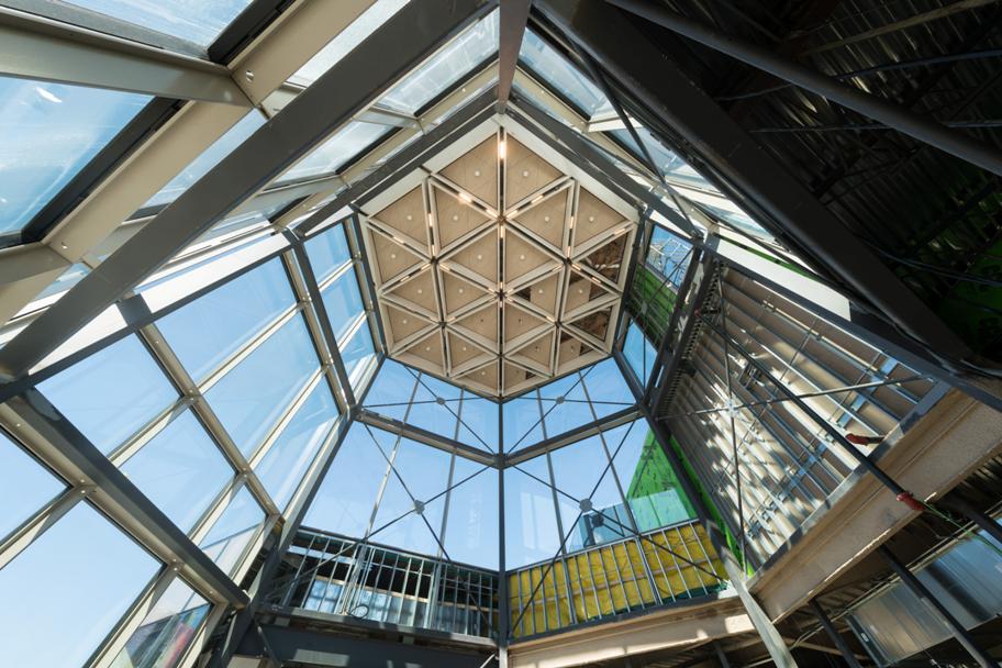 Vue de l'intérieur de la Lanterne du CNA