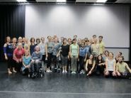 Participants of the movement and dance workshop with Batsheva Dance at the NAC in January | Photo submitted