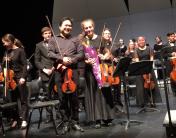 Marley Mullan and Yosuke Kawasake performed together at the Simply Strings performance | Sandy Schlieman