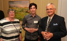 David and Susan Laister with SMI student, Richard Narroway | Photo: Fred Cattroll