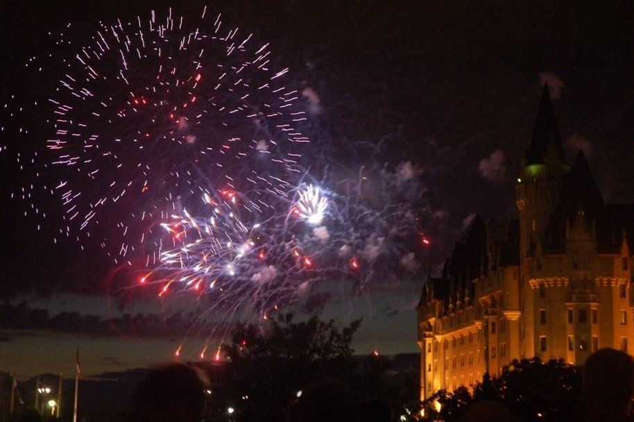 Feux d'artifice de la fête du Canada