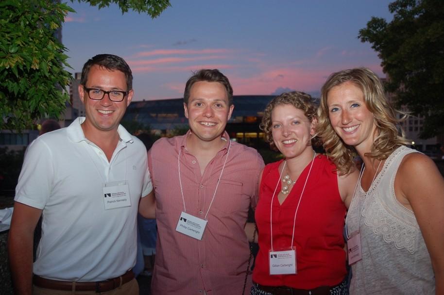 Patrick et Jane Kennedy avec Philip et Gillian Cartwright à la soirée de la fête du Canada de la Fondation du CNA